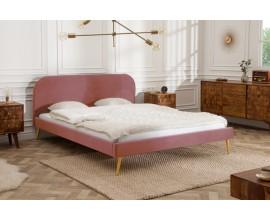 Dizajnová manželská ružová posteľ Ribble 140x200 cm