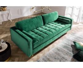 Zelená smaragdová luxusná sedačka Nefertiti 225cm