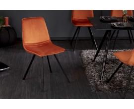 Moderná dizajnová stolička Hartlepool Mandarin zamatová