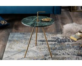 Dizajnový príručný stolík Gedling Green Marble
