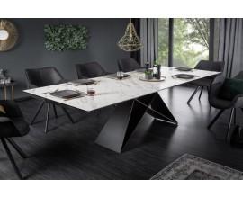 Dizajnový industriálny jedálensky stôl Copeland II 180-260 cm z mramoru