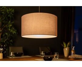 Dizajnová okrúhlá závesná lampa Cherire 50cm šedá