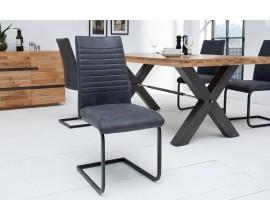Dizajnová industriálna jedálenská stolička Gristol šedá
