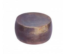 Luxusný industriálny okrúhly konferenčný stolík Hammerblow hlinník 60 cm