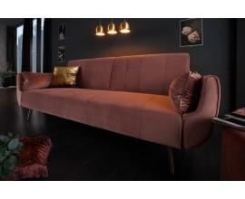 Moderná art-deco rozkladacia staroružová sedačka Domingo 215cm