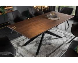 Luxusný industriálny jedálensky stôl Comdor z masívu 200 cm Akácia