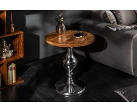 Okrúhly príručný dizajnový stolík z masívu Tyne 60cm