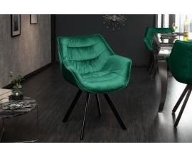 Dizajnová stolička Antik smaragdovozelená
