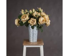 Dekoračné umelé ruže žlté