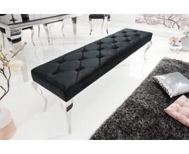 Luxusná čalúnená lavica Modern Barock čierna