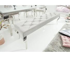 Luxusná čalúnená lavica Modern Barock strieborná
