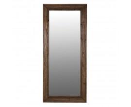 Vidiecke nástenné zrkadlo Rural s dreveným rámom 189 cm