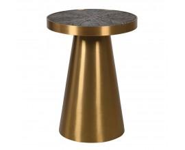 Art-deco okrúhly príručný stolík Brillos 40 cm