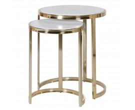 Art-deco set okrúhlych príručných stolíkov Charm 46 cm