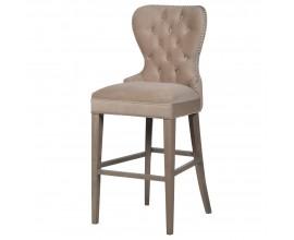 Luxusná barová stolička Ador II s Chesterfield prešívaním 119 cm