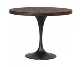 Okrúhly dizajnový jedálenský stôl Bermon 100cm hnedý
