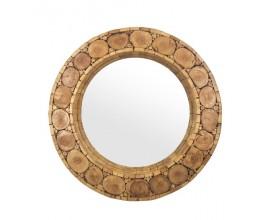 Štýlové zrkadlo rustikálne okrúhle