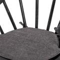 Dizajnová industriálna jedálenská stolička Nyakim z masívu