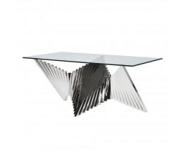 Luxusný chrómový jedálenský stôl Abstracta 180,5