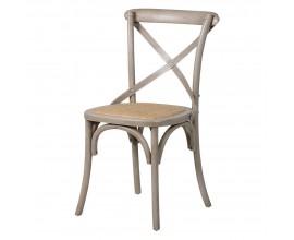 Štýlová vidiecka ratanová stolička Antic Gris 87,5cm