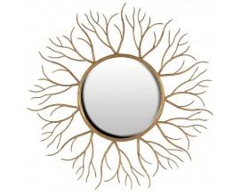 Dizajnové art-deco zrkadlo Gold Twigs 110cm so zlatým rámom