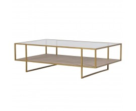 Dizajnový art-deco konferenčný stolík Diveni 132cm