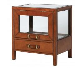 Luxusný kožený príručný stolík Pellia 60cm