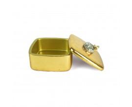 Dizajnová a luxusná zlatá šperkovnica Beea 12cm