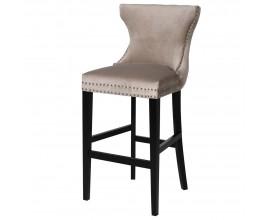 Luxusná chesterfield barová stolička Linwood 115cm