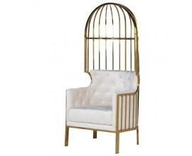 Dizajnová art-deco stolička Wielton Blanc 160cm biela zlatá