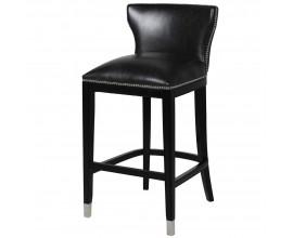 Luxusná čierna barová stolička Bearhad 104cm