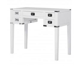 Jedinečný písací stôl Wielton Blanc 90cm v bielom prevedení