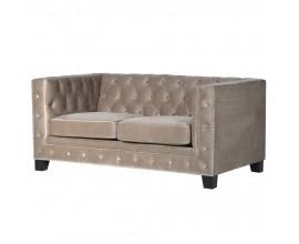 Luxusná sivá chesterfield pohovka Torrance 160cm