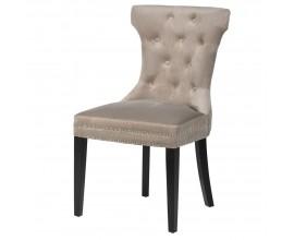 Luxusná chesterfield jedálenská stolička Kilbride II 91cm sivá