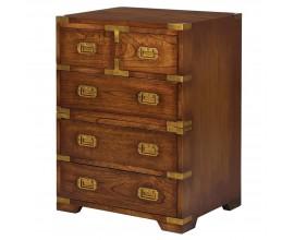Luxusný príručný stolík Dark Rich 70cm v hnedom prevedení