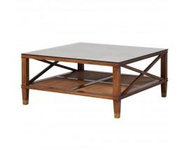 Jedinečný koloniálny konferenčný stolík Dark Rich 100cm