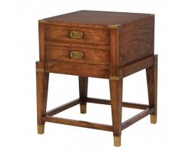 Koloniálny nočný stolík Dark Rich 55cm s dvomi zásuvkami