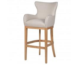 Moderná barová stolička Fairlie II 112 cm s provensálskym nádychom