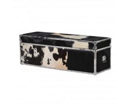 Luxusná krabička Aron s poťahom z hovädzej kože s dlhým vlasom 120cm