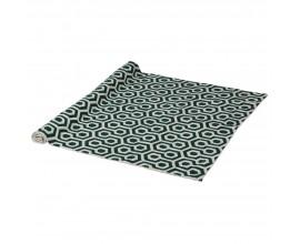 Škandinávsky koberec Gemo so zeleno-slonovinovým vzorom z vlny a bavlny 180cm