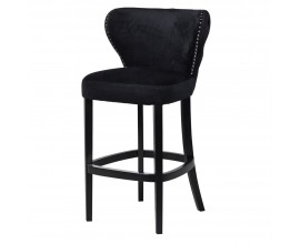 Vintage dizajnová barová stolička Black Velvet 59cm