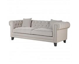 Luxusná chesterfield sedačka Wilmington 213cm  v sivej farbe