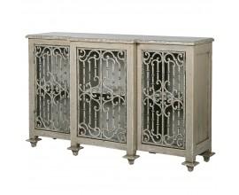 Luxusná vintage skrinka Fraulen s úložným priestorom za dekoratívnymi dvierkami 150cm