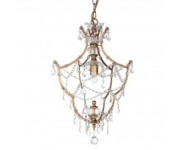 Luxusný zlatý luster Grasel s tieniacimi prvkami v tvare kryštálov 45cm