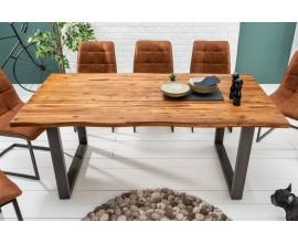Štýlový masívny jedálenský stôl Forest 200cm akácia antracit