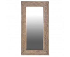 Štýlové nástenné zrkadlo Visalia s dreveným ornamentálnym rámom 181cm