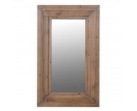 Štýlové nástenné zrkadlo Kansas s hrubým dreveným rámom 112cm