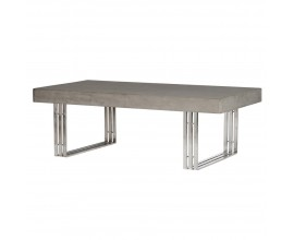 Industriálny konferenčný stolík Lubbock  z betónu s chrómovými nohami 135cm