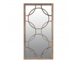 Luxusné vysoké závesné zrkadlo Garland s rámom z masívu 156cm