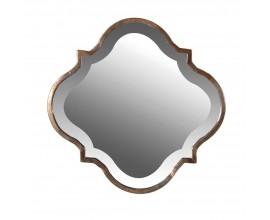 Vkusné art-deco nástenné zrkadlo Graya 38cm s bronzovým rámom